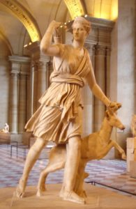 Artemis, Greek Goddess of the Hunt, Forests and Hills, the Moon, Archery