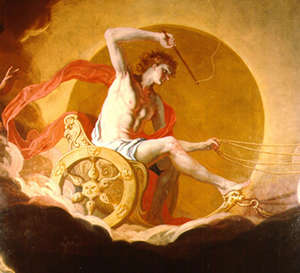 Helios Rides His Chariot Across The Sky